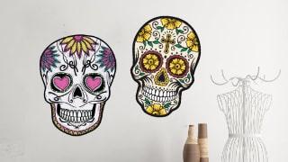 Autocollants têtes de mort mexicaines