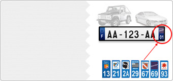 Stickers Forme Immatriculation Voiture