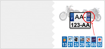 Stickers Forme Immatriculation moto
