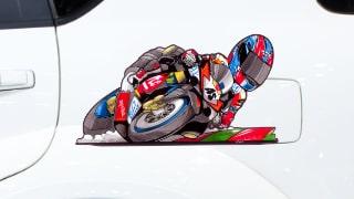Stickers Caricatures Moto