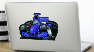 Stickers Cars-toons F1