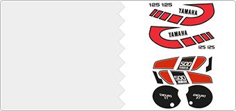 Kits autocollants Yamaha Vintage