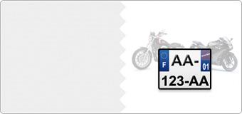 Plaques Immatriculation MOTO