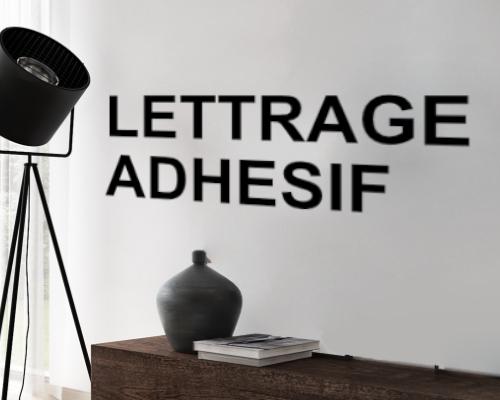 Lettrage adhesif