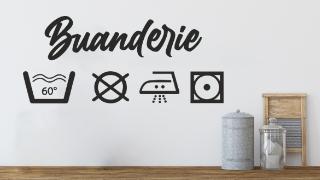 Stickers Buanderie