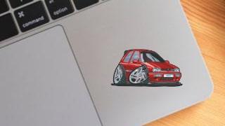 Stickers Caricatures Auto