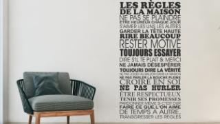 Stickers Règle de la Maison