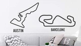 Stickers Circuits Moto GP