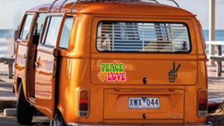 Stickers Hippie / Peace & Love