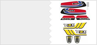 Kits autocollants Honda Vintage