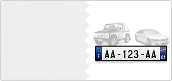Plaques Immatriculation AUTO