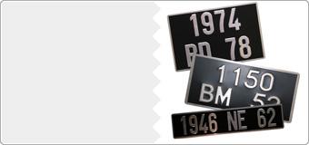 Plaques  en Aluminium  Collection noires ( ancien n° )