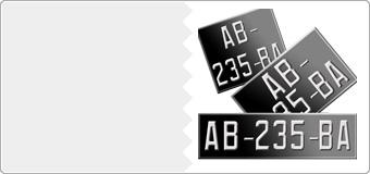 Plaques en Aluminium Collection noires